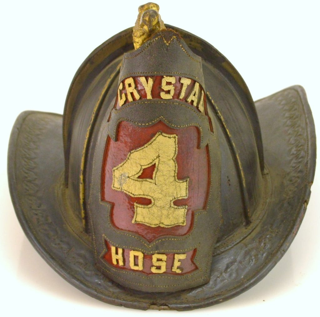 Cairn Leather Fireman's Scroll Eagle Helmet