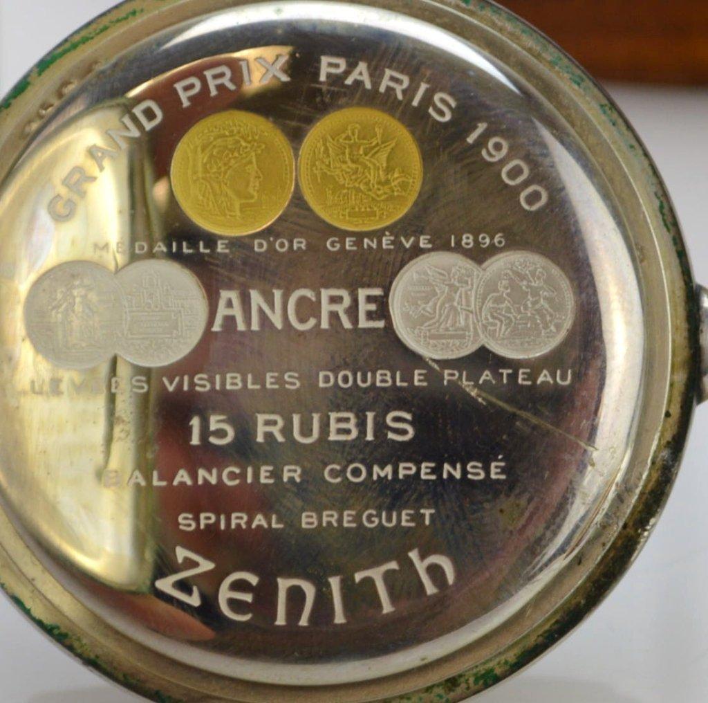 Zenith Grand Prix 1900 Silver Pocketwatch - 3