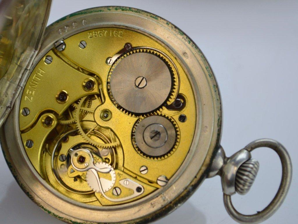 Zenith Grand Prix 1900 Silver Pocketwatch - 4