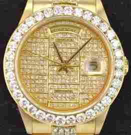 14k Gold and Diamond Gentlemans Rolex