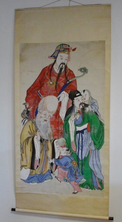 FINE CHINESE PAPER SCROLL Of  IMMORTALS