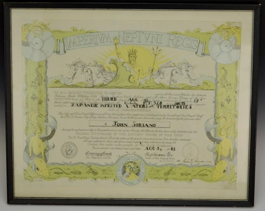 Imperium Neptuni Regis Certificate WWII
