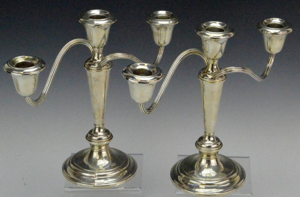 Gorham Sterling Silver Candelabra Grouping