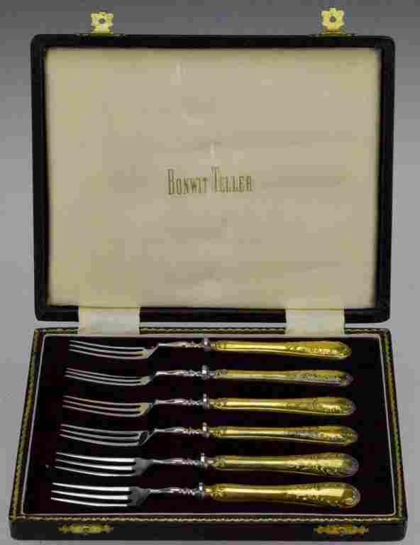 Bonwit Teller Sterling Silver Escargot Forks OB