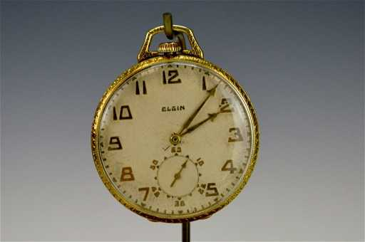 14k Yellow Gold Lord Elgin Pocket Watch