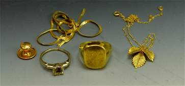 14k Gold Jewelry Grouping
