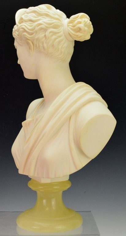 Bust of Diana of Italian Alabaster by A. Giannelli - 2
