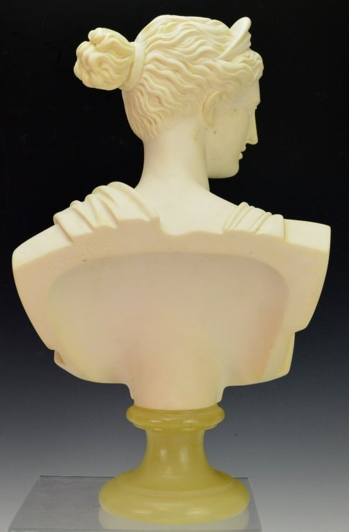 Bust of Diana of Italian Alabaster by A. Giannelli - 3