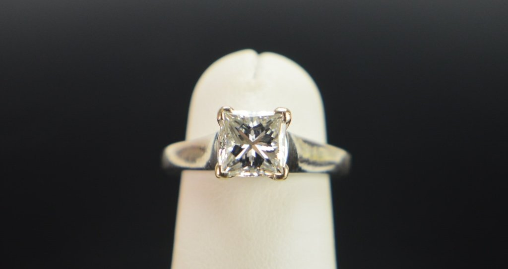 "1.04 C Princess ""VS1 G"" 14k Engagement Ring GIA"