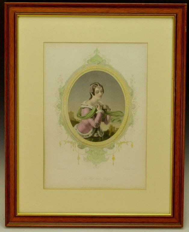 The High-Born Lady Painted Engraving
