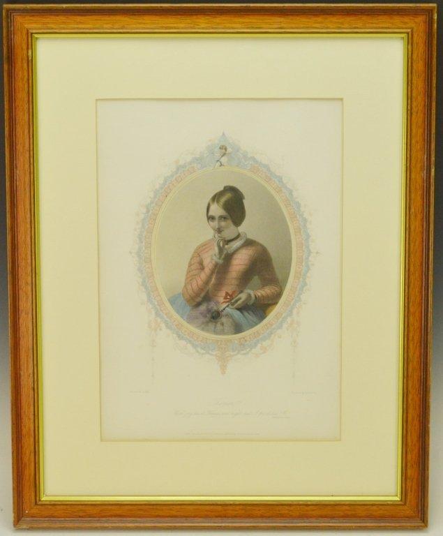 Theresa Painted Engraving