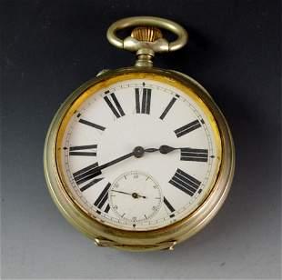 "Large 3"" Swiss Pocket Watch"