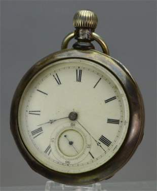 Illinois Watch Co. Coin Silver Pocket Watch
