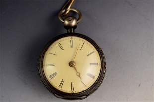 Will Moore Dublin Sterling Fusee Pocket Watch