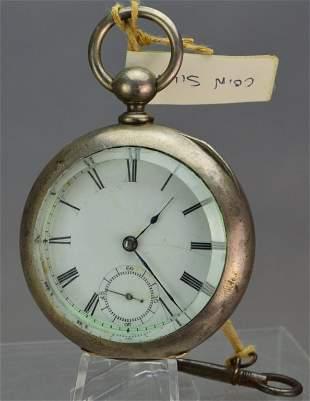 Waltham Broadway Coin Silver Pocket Watch