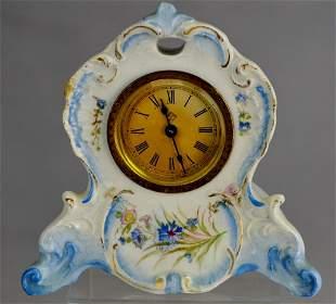 Royal Bonn Porcelain Ansonia Vanity Clock