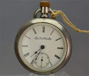 Elgin Coin Silver Pocket Watch
