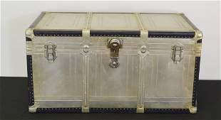 Vintage Aluminum or Stainless Foot Locker