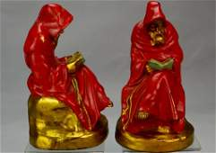 Armor Bronze Monk Bookends