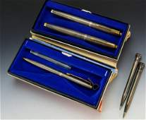 Parker Gold and Sterling Silver Pen Grouping
