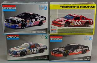 Monogram 1:24 Scale NASCAR Model Grouping