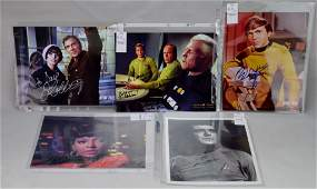 Star Trek Signed Cast Photograph Grouping