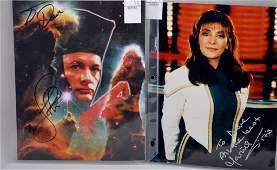 Star Trek TNG Signed Cast Photograph Grouping