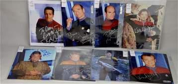 Star Trek Voyager Signed Cast Photographs