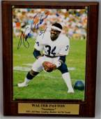 Walter Payton Signed Photo Plaque