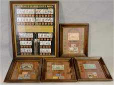 Framed US Coins Grouping