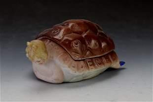 Turtle Bathing Beauty Bare Bottom Trinket Box