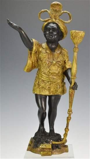 Gilt Bronze Blackamoor Child Candlestick