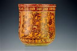 Mayan Painted Vase : Sotheby's