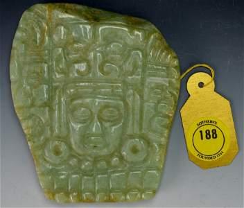 Mayan Jade Plaque : Sotheby's
