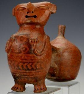 Vicus Figural Whistle Vessel