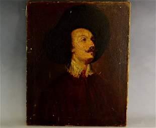 19th C. Oil on Canvas Portrait