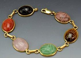 14k Yg Scarab Bracelet