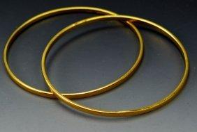 22k Yellow Gold Bangle Bracelet Grouping