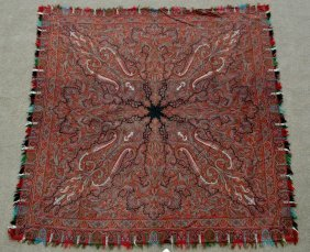 Antique Silk Paisley Textile