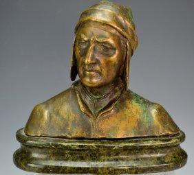 Antique Bronze Sculpture Of Bust