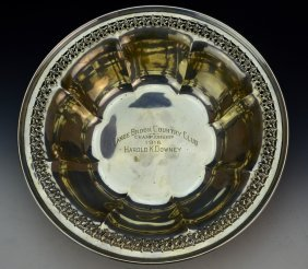 Sterling Silver Golf Presentation Bowl