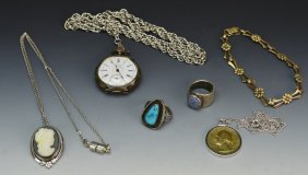 Grouping Of Sterling And Other Silver Jewelry