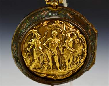 Wm. Rivers Gold Repousse Verge Pocket Watch : Sotheby's