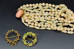 14k Yg Jewelry Grouping