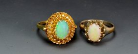 10k And 14k Opal Ring Grouping