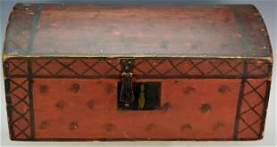 Antique Paint Decorated Primitive Immigrants Chest