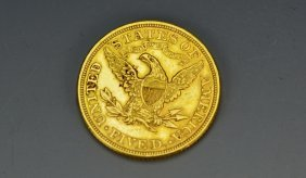 1908 Us $5 Liberty Head Gold Coin