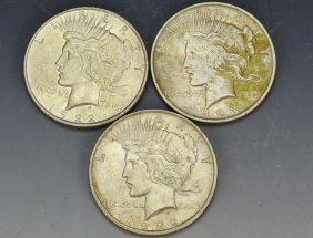 Silver Peace Dollar Grouping