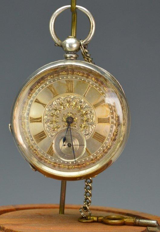 Billodes Swiss .935 Silver Pocket Watch