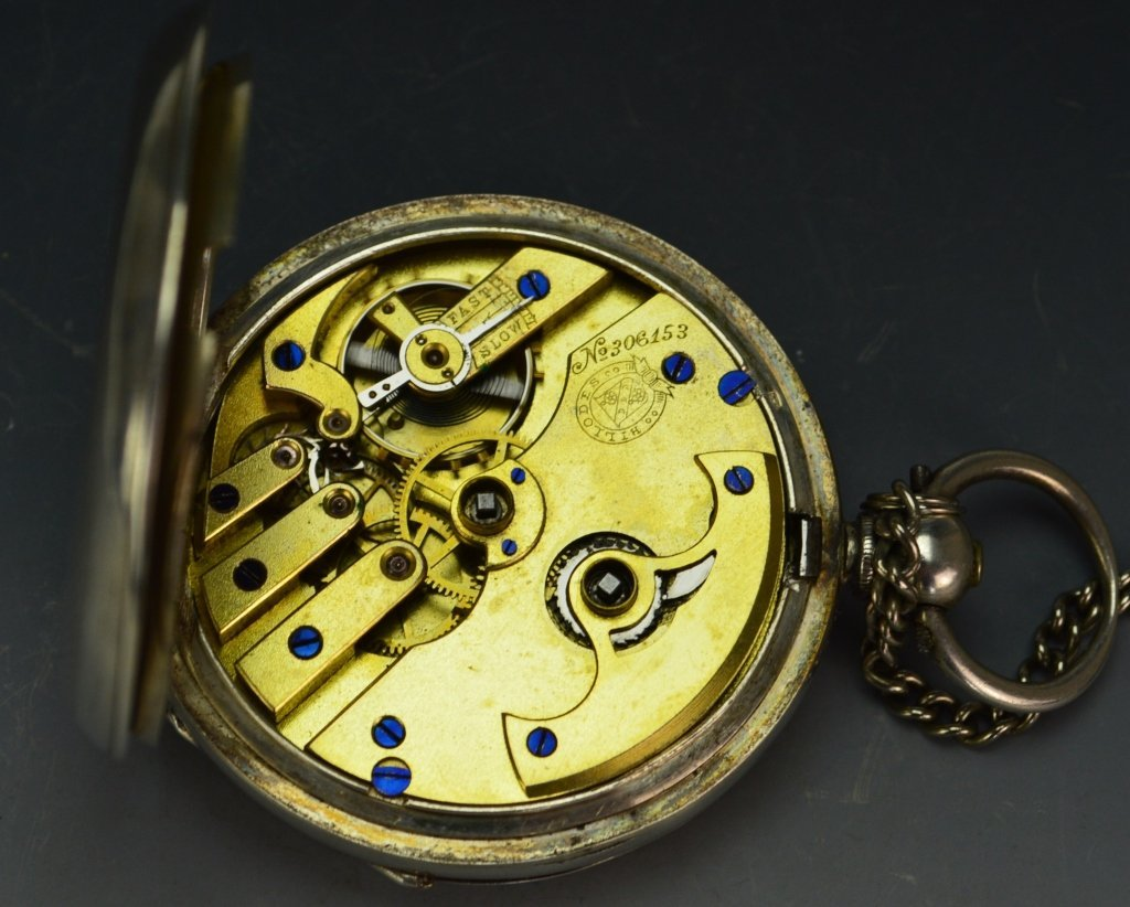Billodes Swiss .935 Silver Pocket Watch - 3